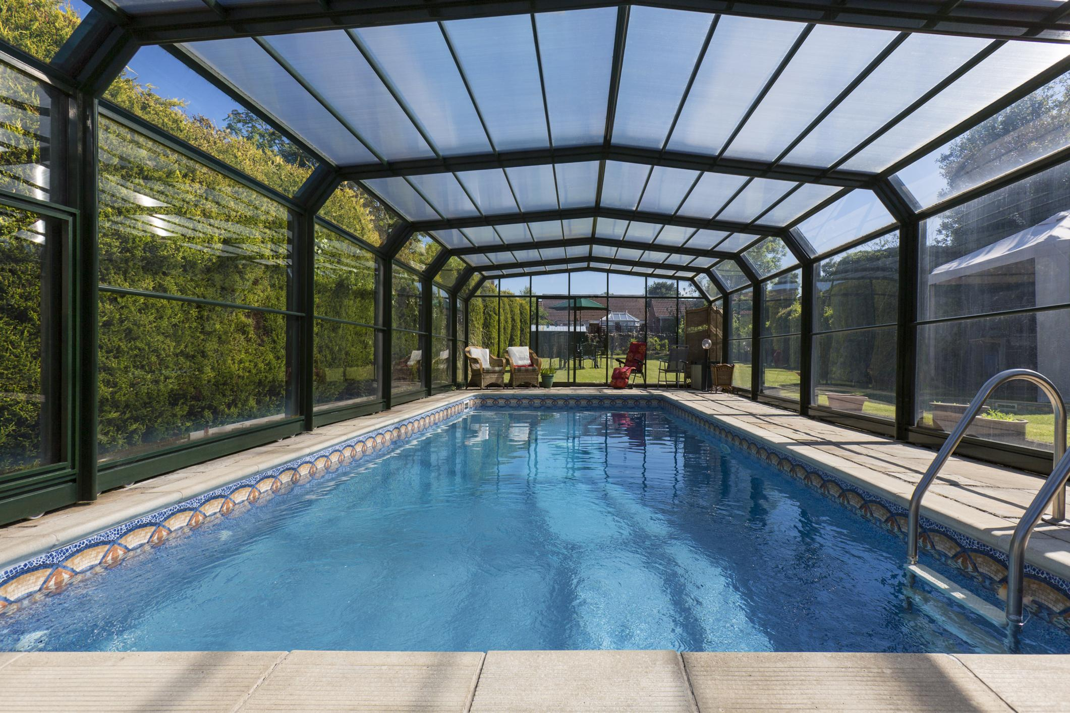 pool inside the pool cage